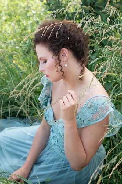 Séance photo portrait princesse douceur élégante femme