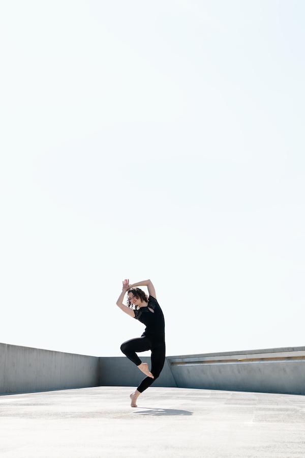 Shooting photo pour book danseuse