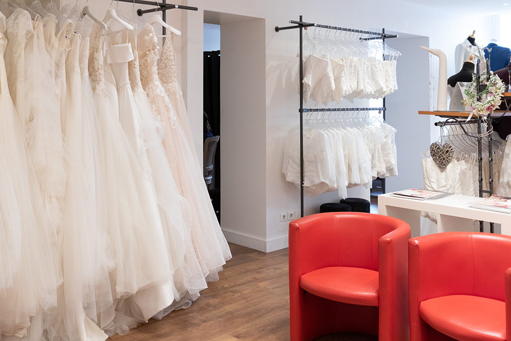 Essayages de robe de mariée Créanne