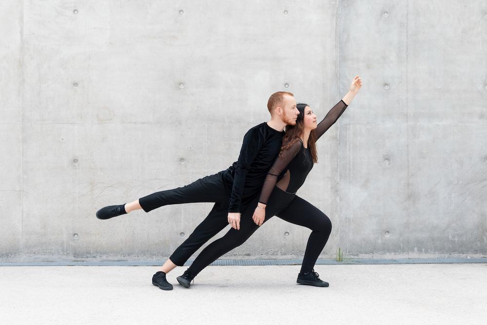 Duo de danseurs contemporains modern-jazz Nancy