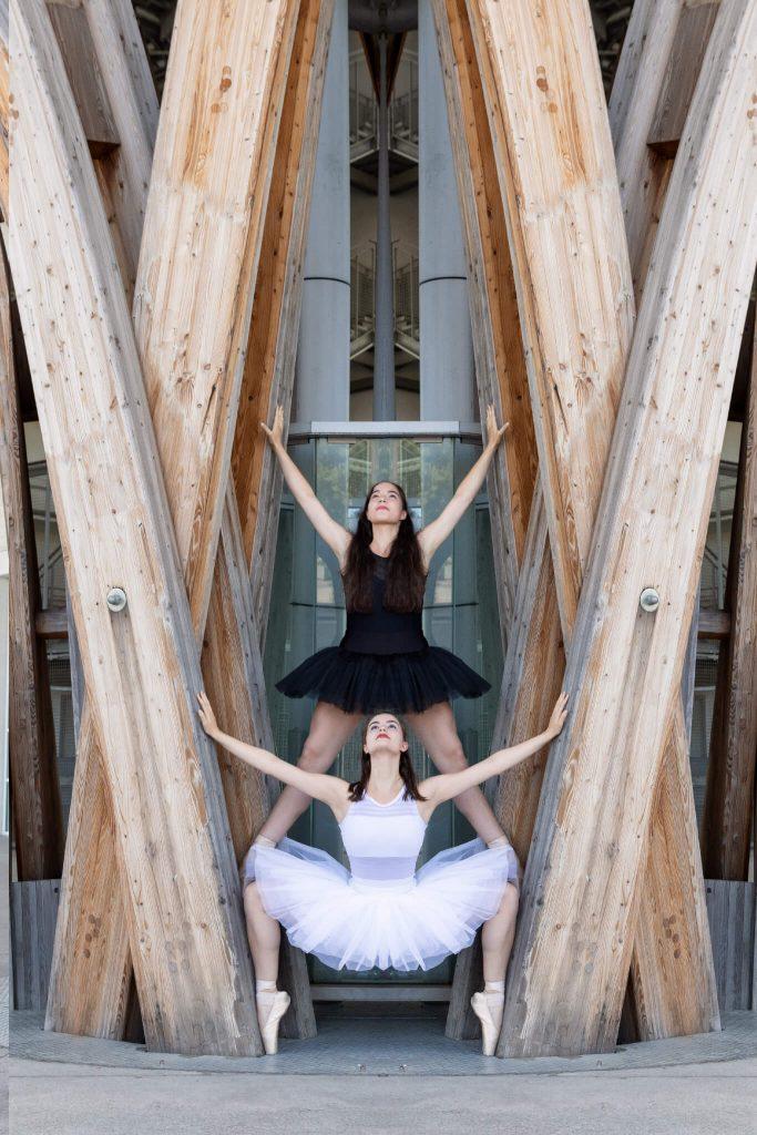 Séance photo de danse deux copines Metz