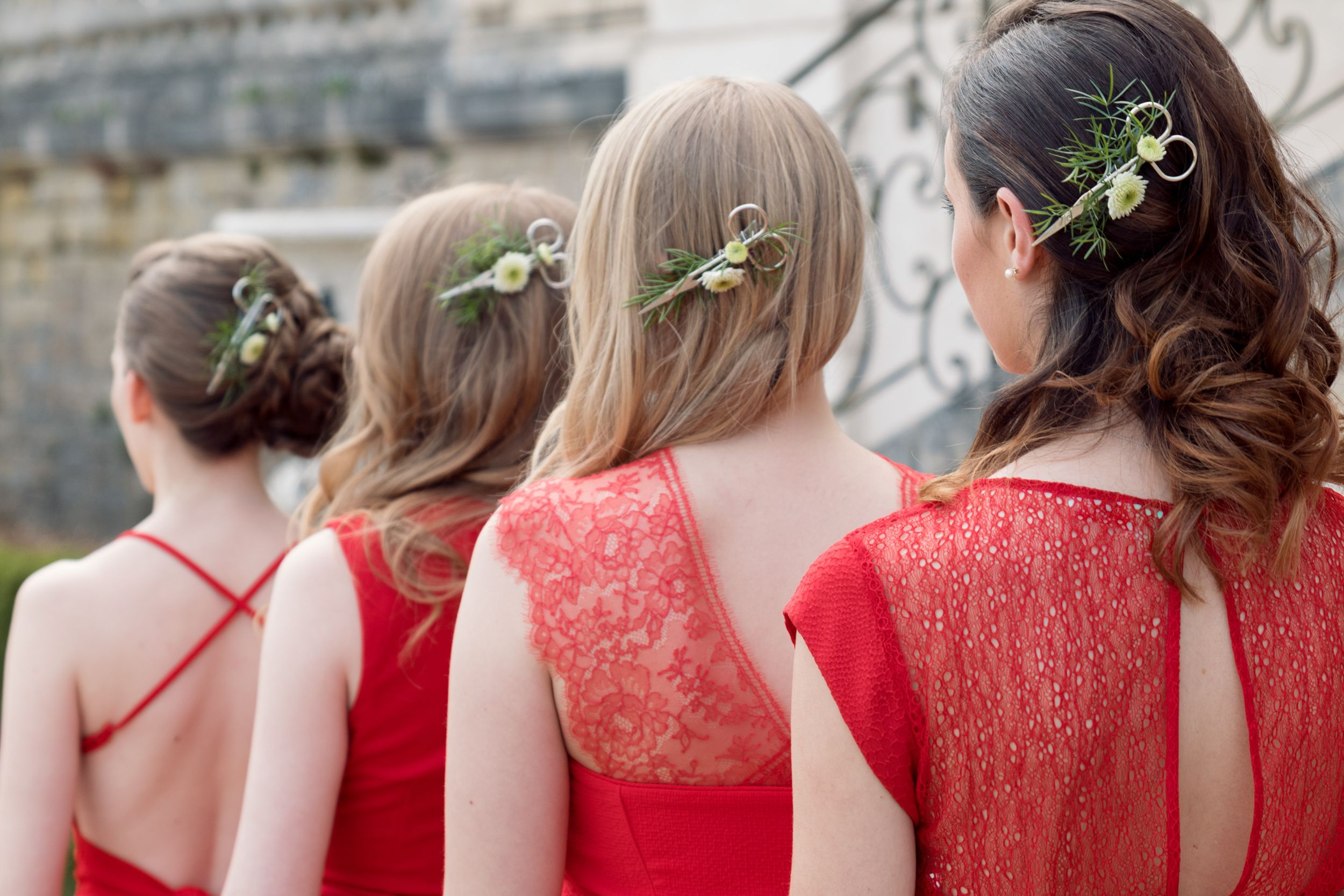 Demoiselles d'honneur coiffées mariage Nancy