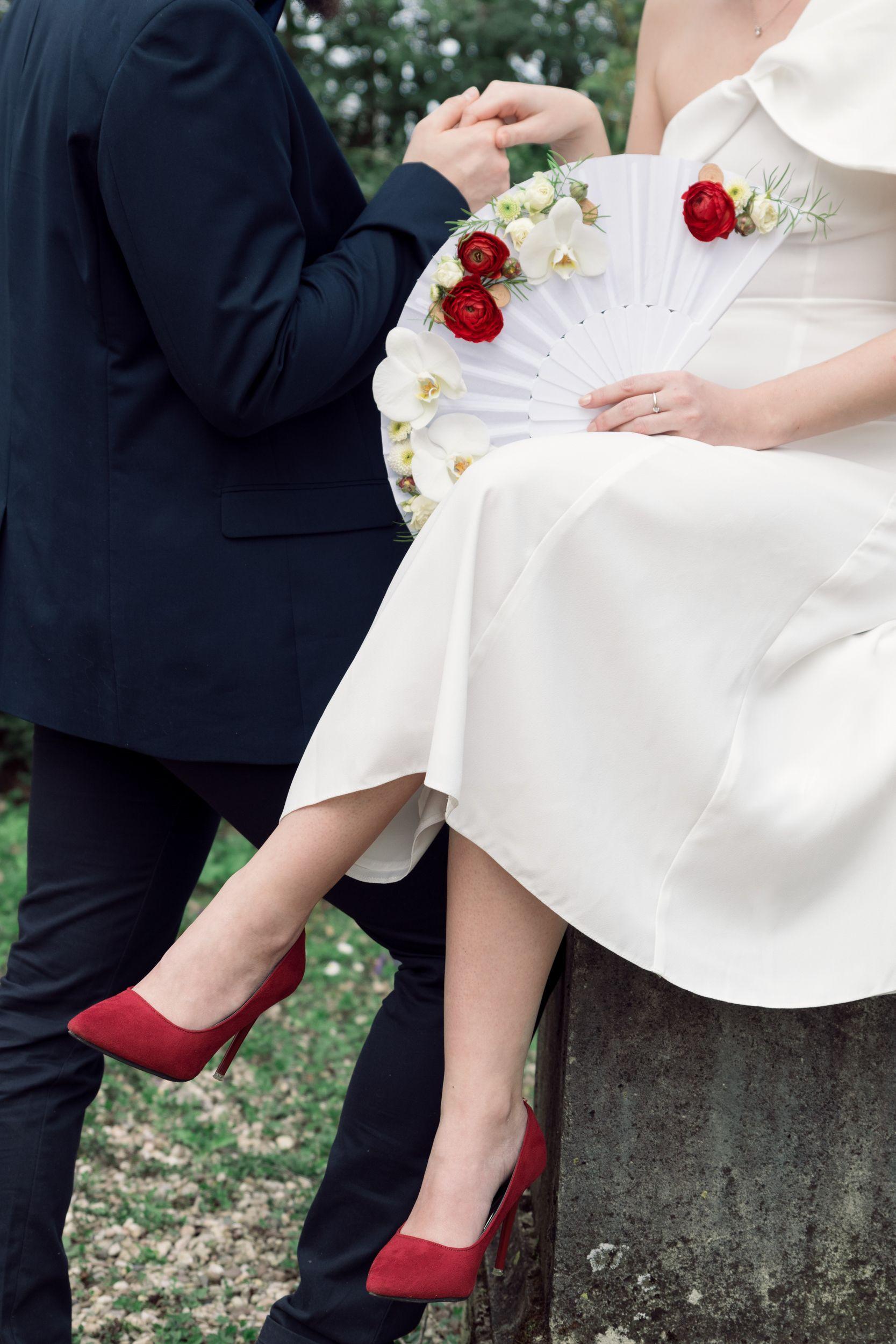 Shooting photo mariage moderne minimaliste