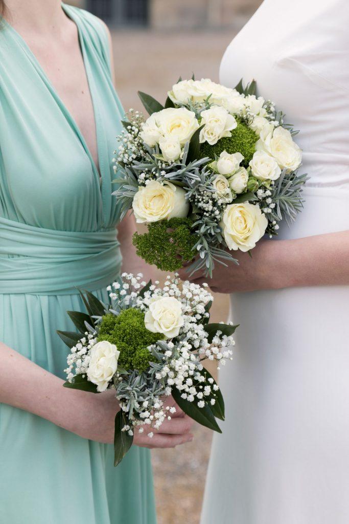 Bouquets de mariée et demoiselle d'honneur à Lunéville